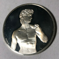 David, The Genius of Michelangelo 1.26oz Sterling Silver Medal