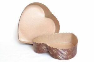 Heart Shaped Paper Bake In Disposable Baking Mould Tray (pack of 5)