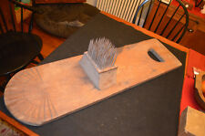 Antique Early Primitive Hetchel Flax Comb with Sunburst Carving Must See