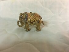 Vintage Elephant Unique Hinged Trinket Box