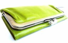Genuine Natural Soft Leather Woman Purse Tote Ladies Wallet Clutch Cards Green