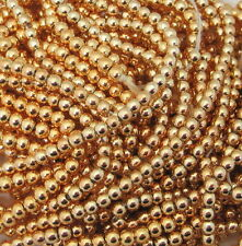 100's Vintage Bright Gold Metal Seedbeads Seed Beads Light Weight NICE