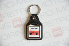 Sunbeam Tiger Keyring - Leatherette / Chrome Retro British classic car keyfob