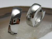 Edelstahl Creolen Ohrringe Piercing 5mm/15mmØ Hochglänzend silber Herren Damen