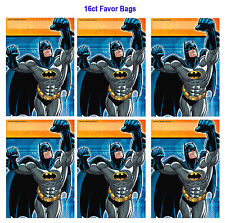 Batman Folded Loot /Treat / Favor Bags Birthday Decorations Party Favor Supplies