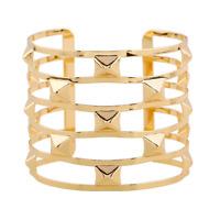 Fashion Men Women Gold Hollow Out Rivets Punk Bangle Cuff Bracelet Jewelry Gift