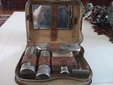 Vintage Men's travel toiletry in leather case