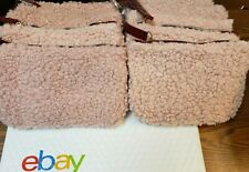 10x Ipsy December 2020 Glam Bag Teddy Pink Fuzzy Wristlet Cosmetic (Bags Only)