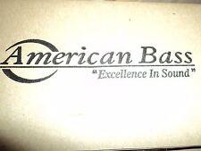 American Bass VFL 100.1 Competition Mono Amp 1500 Watts RMS W/ Bass Knob - NEW -