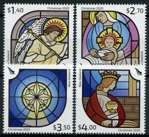 New Zealand NZ Christmas Stamps 2020 MNH Nativity Angels Stained Glass 4v Set
