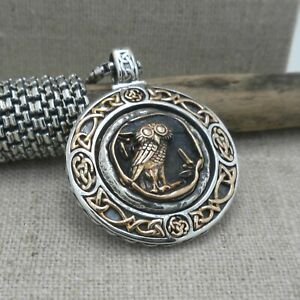 PETRICHOR Sterling silver & Bronze Wisdom of the Warrior Owl Pendant KEITH JACK