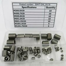 60 pcs Helicoil Stainless Steel Thread Repair Insert Kit M3 M4 M5 M6 M8 M10 M12