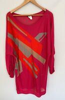 MARINA RINALDI stunning Bright Maglia Sweater Top Knit Size M