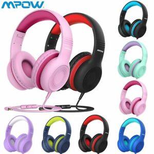 Mpow Kinder Kopfhörer Headphone Handy KabelKopfhörer Faltbare 85dB mit Mikrofon
