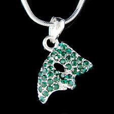 w Swarovski Crystal ~Emerald Green Phantom of the Opera Masquerade Mask Necklace