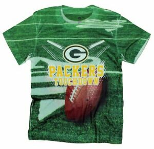 Green Bay Packers TOUCHDOWN NFL Youth T-Shirt Shirt, Green