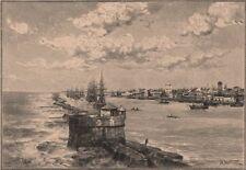 Port of Recife. Brazil 1885 old antique vintage print picture