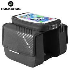 ROCKBROS Mountain Bike Bicicleta de caso de pantalla táctil teléfono de bolsa frontal Bolsa Sillin bilateral