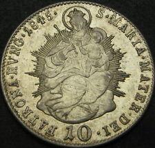 HUNGARY 10 Krajczar/Kreuzer 1845B - Silver - VF+ - 2553 ¤