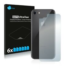 6x Displayschutzfolie iPhone 7 / 8 (Rückseite) Schutzfolie Klar Folie