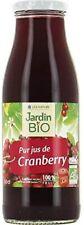 Jardin Bio - Pur Jus De Cranberry Bio Verre 500Ml - Lot De 3