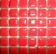 81 Mini Azulejos de mosaico de cerámica glaseada 10 Mm-Amapola