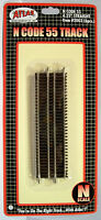 "Atlas N Code 55 Track 4.25"" STRAIGHT item #2003 (6pcs). New"