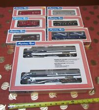 NOS AMERICAN FLYER WABASH FREIGHT TRAIN SET/6-48100 + 6 ROLLING STOCK w/ O.BOXES