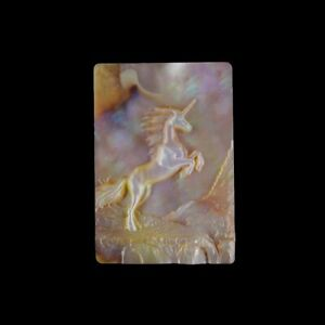 Carved Unicorn MOP Pearl CAB GL008049