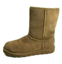 """Womens BEARPAW Size 10 Chestnut Brown Suede Boots 10"""" Height Great Condition!"""