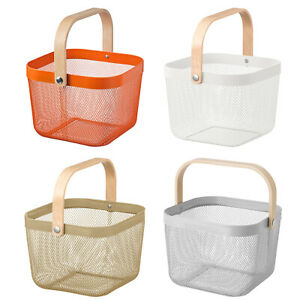 Ikea RISATORP Home Grocery Fruits Carrying Storage Basket With Handle 25x26x18cm