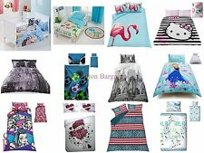 Hello Kitty Graphic Reversible Girls Double Bed Duvet Quilt Cover Bedding Set