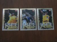 1997-98 Collector's Edge Silver KB8 2nd Year Kobe Bryant lot #2.#3 & #4 Lakers