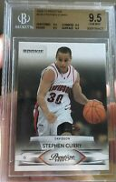 2009 STEPHEN CURRY rookie card Prestige BGS 9.5 Gem Mint #230 All 9.5 Subs!