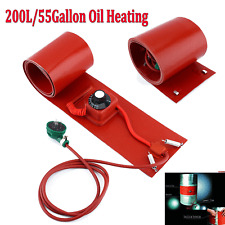 200L/55Gallon 1000W Silicone Band Drum Heater Oil Biodiesel Metal Barrel 110V