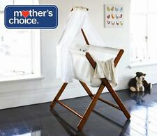 Mother's Choice Coco Bassinet Folding Bed Cot Crib Infant Baby Bassinette Walnut