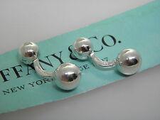 Tiffany&Co  sterling silver 'ball' cuff links MINT