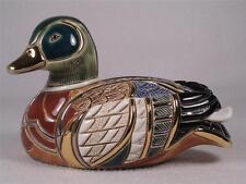 De Rosa Rinconada Emerald Collection Duck Figurine  # 1003 - Colorful NIB!
