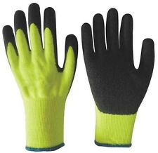 LATEX COATED PALM ATLAS TYPE GLOVES YELLOW WITH BLACK LATEX PALM LARGE 300L
