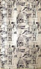 Venice Palace rome fabric shower curtain