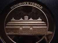 Thomason Medallic Bible 40: SOLOMON'S TEMPLE. Franklin Mint Bronze