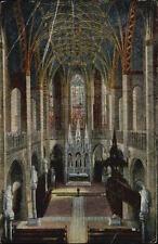 WITTENBERG ~1933 alte color Postkarte Innenansicht Schlosskirche Schloss Kirche