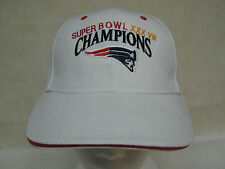 New England Patriots Cap Super Bowl XXXVlll (NEW) White ADULT Size ADJUSTABLE
