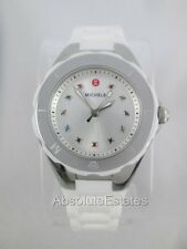 NEW Michele Petite Jelly Bean Topaz White Silver Watch MWW12P000001 + BONUS!