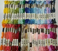50 DMC 25 Embroidery Floss Lot 50 Skeins 50 Different Colors NOS Lot 021