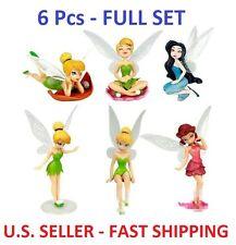 6 Pcs - Disney Tinkerbell Fairies CAKE TOPPER Figure Set, Birthday Party Favor