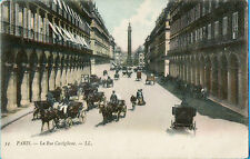 54 Paris-La Rue Castigione 1912-LL (with Horse drawn Cabs/Carriages)