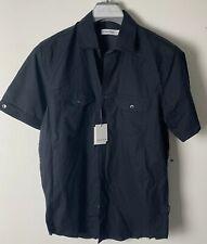 Calvin Klein BNWT Button Up Short Sleeve Black Shirt Size Small