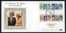 Great Britain 60th Birthday HM The Queen silk first day cover #27(2017/06/05#03)