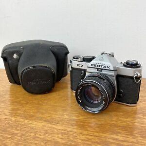 Asahi Pentax KX 35mm Vintage Film Camera with SMC Pentax 1.8/55 Lens + Case